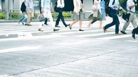 Drukte van de stad Japan stock video