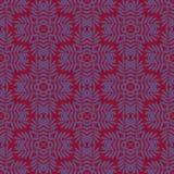 Druku Bezszwowy wzór Mandala Kwitnie z czerwonym tłem Fotografia Royalty Free