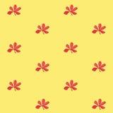 Druku Bezszwowy wzór Rewolucjonistka Kwitnie z Żółtym tłem Obraz Royalty Free
