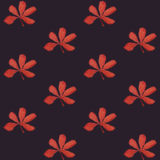 Druku Bezszwowy wzór Rewolucjonistka Kwitnie z purpurowym tłem Obraz Royalty Free