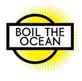 Druku czyrak oceanu znaczek na bielu ilustracji