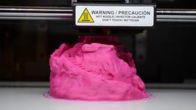 Druku 3D przedmiota drukarka, zakończenie, dolny planu widok zbiory wideo