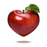 Druku jabłka serce Fotografia Stock