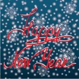 Druku nowego roku ręki Szczęśliwy literowanie Obrazy Royalty Free