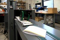 Druku sklep & x28; prasowy printing& x29; - Wykończeniowa linia Obraz Stock