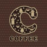 Druku tła kawa ilustracji