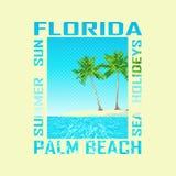 Druku tło Floryda ilustracji