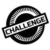 Druku wyzwania znaczek na bielu royalty ilustracja