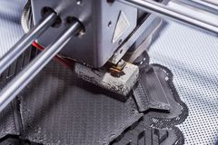 Drukvoorwerp op een industriële 3D printer Royalty-vrije Stock Foto's