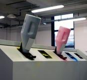Drukwinkel - de Digitale machine van de persdruk stock foto