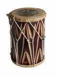 Drum. Original  indian djembe drum on on a white background Royalty Free Stock Images