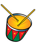 Drum. The Snare Drum with two sticks stock illustration