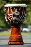 Drum. An African drum sitting on top of an outdoor stage Royalty Free Stock Photos