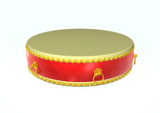 Drum. 3d image of a drum on white Royalty Free Stock Photos