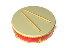 Drum. 3d image of a drum on white stock illustration