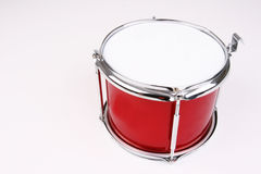 Drum. A red and silver drum Royalty Free Stock Images