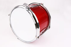 Drum. A red toy snare drum Royalty Free Stock Photography