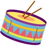 Drum. Illustration of isolated drum on white background Stock Image