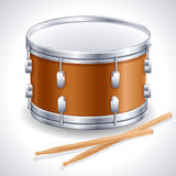 Drum. Vector illustration - drum and drumsticks royalty free illustration