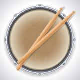 Drum. Vector illustration - drum and drumsticks vector illustration