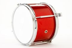 Drum. Red and white drum on white Royalty Free Stock Images
