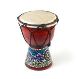 Drum. African Djembe Drum on a white background royalty free stock images