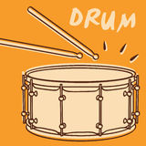 Drum vector. Illustrations of a drum retro style + vector  eps file Stock Photos