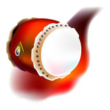 Drum. In vector, illustrator. one kind of music instrument for celebrate in chinese new year Royalty Free Stock Photos