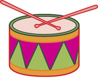 A drum. With two sticks royalty free illustration