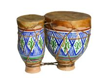 Drum. Original african djembe drum isolate on a white background Royalty Free Stock Photos