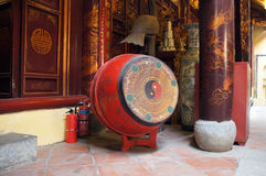 Drum in Bach Ma temple, Hanoi, Vietnam. Drum in Bach Ma temple (White Horse Temple), Hanoi, Vietnam Stock Photography