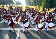 Drum band contest Royalty Free Stock Image