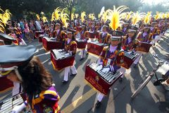 Drum band contest Royalty Free Stock Photos