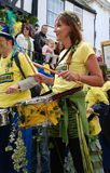 Drum band, Hastings Royalty Free Stock Image