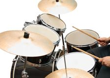 Drum and bass set Royalty Free Stock Photography