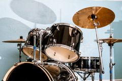 Drum and bass set Royalty Free Stock Photo