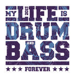 Drum & Bass Typography Stock Images