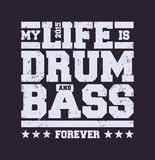 Drum & Bass Typography Royalty Free Stock Photography