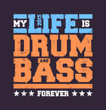 Drum & Bass Typography Stock Image
