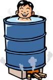 Drum bath Stock Photo