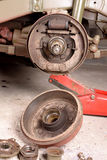 Drum brake removed Royalty Free Stock Images