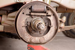 Drum brake removed Stock Photo
