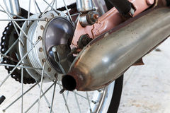 Drum brakes with rear motorcycle Stock Photography
