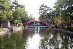 Drum Bridge of Sumiyoshi Taisha Shrine, Osaka Royalty Free Stock Photos