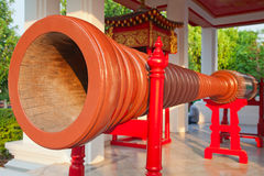 Drum in the buddhist temple Stock Photo