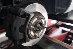 Drum car brake system. Old royalty free stock images