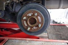 Drum car brake system. Old royalty free stock image