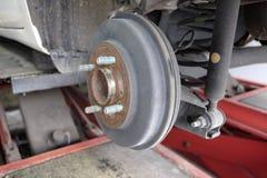 Drum car brake system. Old royalty free stock photo