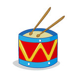 Drum cartoon Stock Image