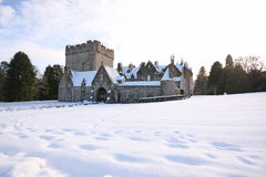 Drum Castle in the snow Royalty Free Stock Photo